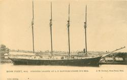 SCHOONER LOADING AT L.N. DANTZLER LUMBER CO'S MILL