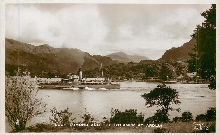 LOCH LOMOND AND THE STEAMER AT ARDLUI