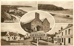 5 insets GENERAL VIEW ABERDARON/THE BAY, WHISTLING SANDS, ABERDARON/THE CHURCH, ABERDARON/Y GEGIN FAWR, ABERDARON/SHIPS HOTEL, ABERDARON