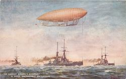 THE CLEMENT BAYARD II  DIRIGIBLE AND SUPER DREADNOUGHT BATTLESHIP
