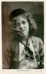 MISS GERTRUDE GLYN  smoking cigar