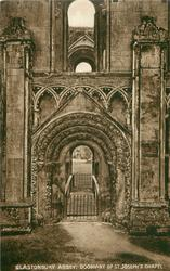 GLASTONBURY ABBEY: DOORWAY OF ST. JOSEPH'S CHAPEL