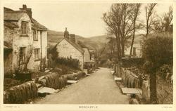 BOSCASTLE  cottages, prominent centre road