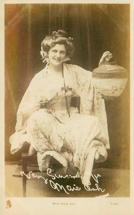 MISS MAIE ASH  in Japanese costume one lantern in her left hand