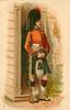 ROYAL HIGHLANDERS (BLACK WATCH)  guard with long black hat, red jacket, green kilt