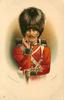 GRENADIER GUARDS  guardsman facing front, right arm up to cheek