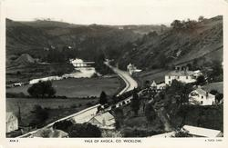 VALE OF AVOCA, bridge over river in distance