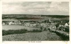 THE VILLAGE, looking down the field