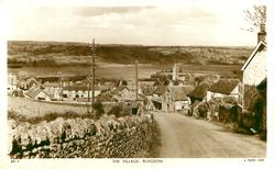 THE VILLAGE, looking down the road