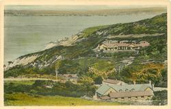 ALUM BAY, ISLE OF WIGHT no pier, buildings right, front right & mid-distant