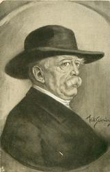 FURST OTTO VON BISMARCK, head & shoulders study, he faces right & looks front/right