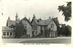 BIRSE LODGE HOTEL. ABOYNE, ROYAL DEESIDE side view