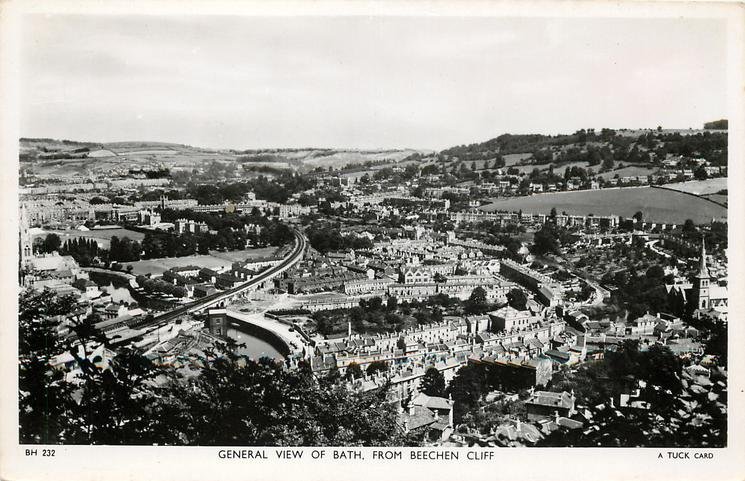 GENERAL VIEW OF BATH, FROM BEECHEN CLIFF