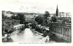 NORTH PARADE AND AVON FROM PULTENEY BRIDGE