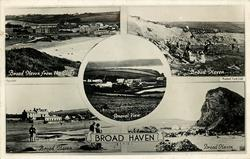 5 insets BROAD HAVEN FROM THE CLIFFS/BROAD HAVEN/GENERAL VIEW/BROAD HAVEN/BROAD HAVEN