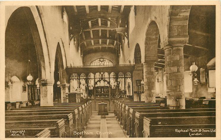BEETHAM CHURCH  interior