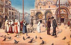 FEEDING THE PIGEONS, PIAZZA SAN MARCO