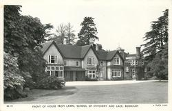FRONT OF HOUSE FROM LAWN, SCHOOL OF STICHERY AND LACE
