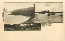 GUERNSEY, 2 insets FERMAIN BAY, GUERNSEY/ THE HARBOUR ST. PETER PORT