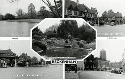 5 insets KELSEY PARK/WICKHAM ROAD. PARK LANGLEY/KELSEY PARK. ROCK GARDEN/SOUTH EDEN PARK ROAD. PARK LANGLEY/HIGH STREET