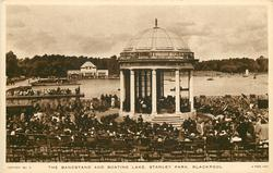 THE BANDSTAND AND BOATING LAKE, STANLEY PARK