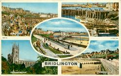 5 insets THE PROMENADE/THE HARBOUR/SOUTH PROMENADE AND SANDS/ BRIDLINGTON PRIORY/SOUTH SHORE