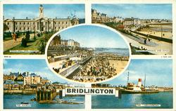 5 insets TOWN HALL AND GARDENS/SOUTH PROMENADE AND SANDS/NORTH PROMENADE AND SANDS/THE HARBOUR/THE 'YORKSHIREMAN
