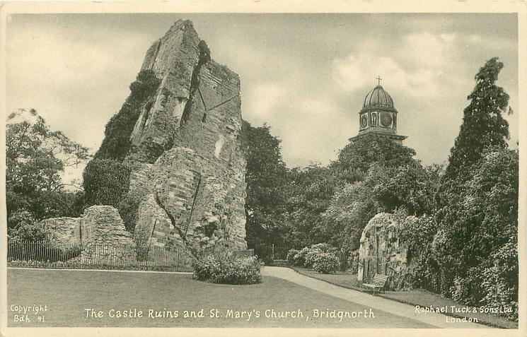 CASTLE RUINS AND ST MARY'S CHURCH