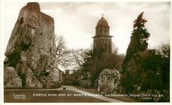 CASTLE RUIN AND ST. MARY'S CHURCH