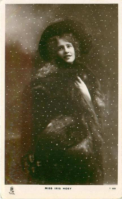 MISS IRIS HOEY  in snow storm