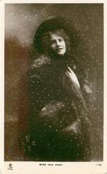 MISS IRIS HOEY  in snow storm