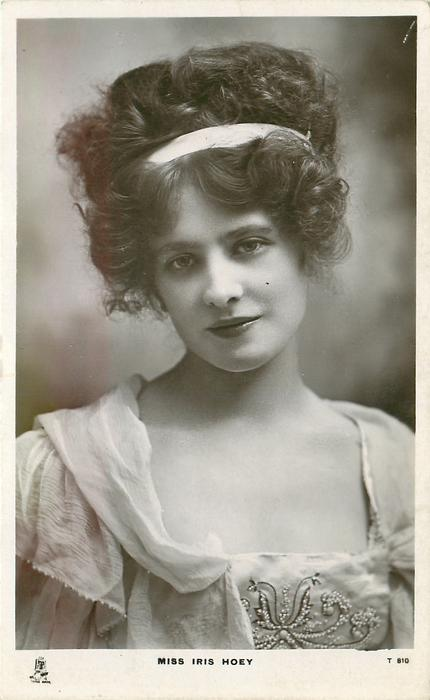 MISS IRIS HOEY  head & chest, facing & looking front