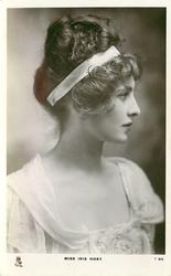 MISS IRIS HOEY  head & chest, facing front looking right