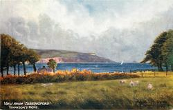 """VIEW FROM """"FARRINGFORD"""" TENNYSON'S HOME"""