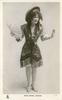 MISS MADGE LESSING  standing, Japanese costume, fan in right hand, facing front