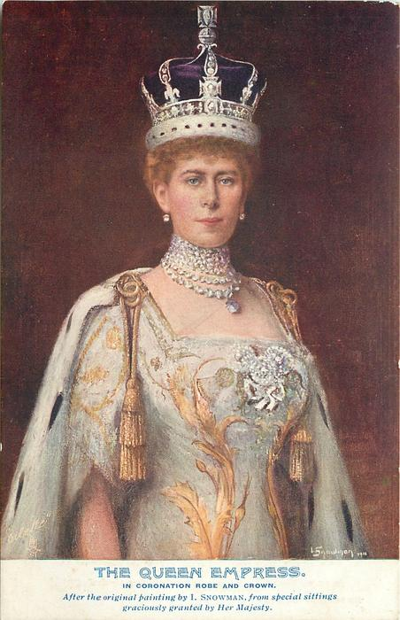 THE QUEEN EMPRESS with or w/o IN CORONATION ROBE AND CROWN