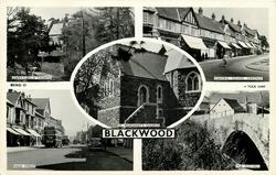 5 insets CWRT-Y-BELLA CHURCH/CENTRAL SQUARE. OAKDALE/ST. MARGARET'S CHURCH/HIGH STREET/THE OLD MILL