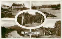 5 insets THE SCHOOL/RIVER & BRIDGES/POST OFFICE & MAIN RD./THE TAY VALLEY/THE VILLAGE