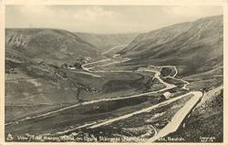 VIEW FROM HAIRPIN BEND ON DEVILS STAIRCASE, ABERGWESSYN PASS