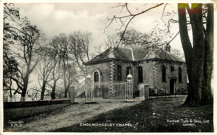 CHOLMONDELEY CHAPEL