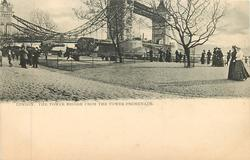 THE TOWER BRIDGE FROM THE TOWER PROMENADE