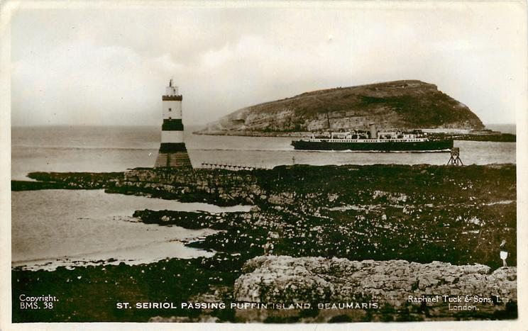 ST. SEIRIOL PASSING PUFFIN ISLAND  lighthouse