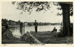 RIVER THAMES AT BARNES