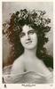 MRS. HARRY THAW (EVELYN NESBIT)  off shoulder filmy dress, flowers in hair, faces right, looks front
