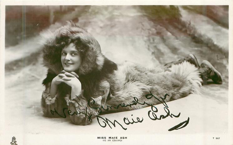 MISS MAIE ASH (AS AN ESKIMO)