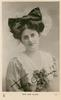 MISS JEAN AYLWIN  head & chest, frilly hat, faces slightly right, looks front