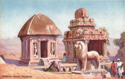 SEVEN PAGODAS  (lion statue)