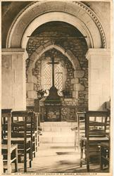 INTERIOR OF ANCIENT CHURCH