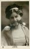 H'ARMLESS, MISS JEAN AYLWIN  head & chest, faces front, rose held between teeth
