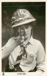 A DEAD SHOT'  (MISS DECIMA MOORE)  with revolver